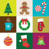 De Elementen van Kerstmis Stock Afbeeldingen