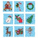 De elementen van Kerstmis Royalty-vrije Stock Afbeeldingen