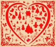 De elementen van Kerstmis Royalty-vrije Stock Fotografie