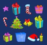 De elementen van Kerstmis Royalty-vrije Stock Foto
