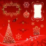 De elementen van Kerstmis Royalty-vrije Stock Foto's