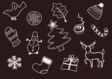 De elementen van Kerstmis en van het Nieuwjaar Stock Afbeelding