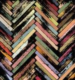 De elementen van de parketvloer in traditioneel net, zij aan zij, remastered, met het kleuren Stock Foto's