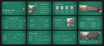 De elementen van presentatiemalplaatjes Stock Afbeelding