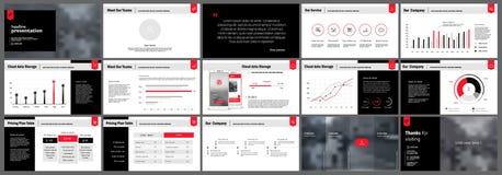De elementen van presentatiemalplaatjes Royalty-vrije Stock Foto