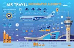 De elementen van reisinfographics Stock Afbeeldingen