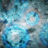 De elementen van technologie op grijze achtergrond Royalty-vrije Stock Afbeeldingen