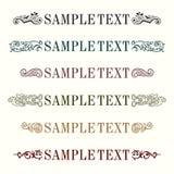 De elementen van de tekstdecoratie Royalty-vrije Stock Afbeelding