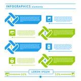 De elementen van Webinfographics. Ontwerpmalplaatje Stock Foto's