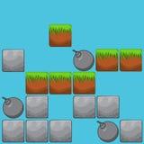 De elementen voor Web ontwerpen en gebruikersinterface van computerspelen: st Royalty-vrije Stock Foto