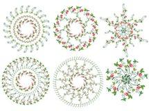 De elementencirkels van het aardbeiontwerp Stock Foto's