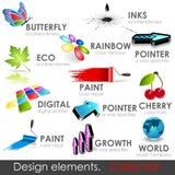 De elementeninzameling van het ontwerp vector illustratie