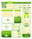 De elementeninzameling van Webdesign Stock Foto's