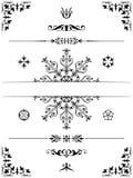 De elementenverdelers van het ornamentontwerp Stock Afbeeldingen