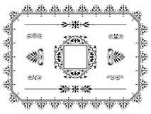 De elementenverdelers van het ornamentontwerp met grens Stock Foto