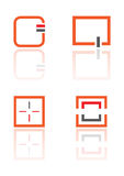 De elementenvierkant van het embleem Stock Foto