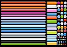 De elementenzwarte van het Web stock illustratie