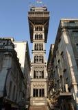 de elevador justa里斯本葡萄牙圣诞老人 免版税库存照片