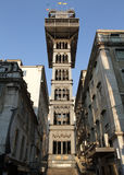 de elevador justa lisbon portugal santa Royaltyfri Foto