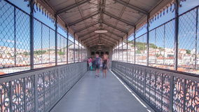 de elevador justa lisbon portugal santa inom stock video