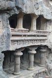 De Elloraholen, Oude Hindoese steen gesneden tempel, hollen Nr 16, India uit Royalty-vrije Stock Afbeeldingen