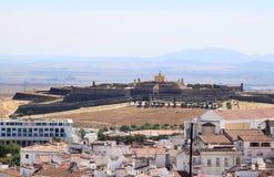 de elvas在葡萄牙圣诞老人附近的堡垒luzia 库存照片