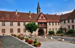 De Elzas, de schilderachtige stad van Rosheim stock foto