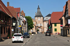 De Elzas, de schilderachtige stad van Rosheim Stock Foto's