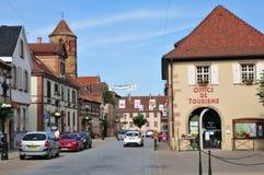 De Elzas, de schilderachtige stad van Rosheim Stock Afbeelding