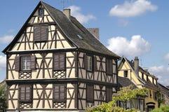 De Elzas, Frankrijk Typisch huis Royalty-vrije Stock Foto's