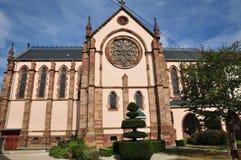 De Elzas, het schilderachtige dorp van Molsheim stock foto