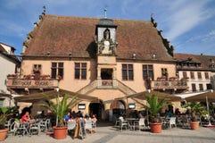 De Elzas, het schilderachtige dorp van Molsheim Stock Foto's