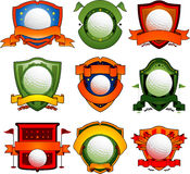 De emblemen en de emblemen van het golf stock illustratie