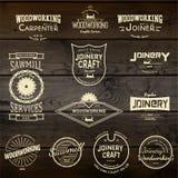 De emblemen en de etiketten van skateboardkentekens voor om het even welk gebruik Royalty-vrije Stock Foto's