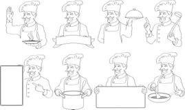De emblemen van chef-koks stock illustratie