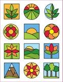 De Emblemen van de aard Royalty-vrije Stock Afbeeldingen