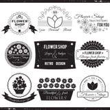 De Emblemen van de bloemwinkel Royalty-vrije Stock Afbeeldingen