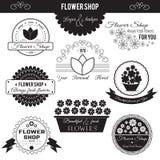 De Emblemen van de bloemwinkel Stock Foto