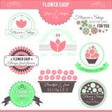 De Emblemen van de bloemwinkel Stock Fotografie
