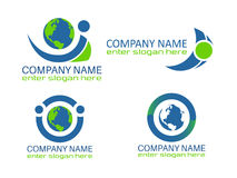 De Emblemen van de Ecoaarde Royalty-vrije Stock Afbeeldingen
