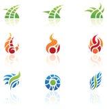 De Emblemen van de Elementen van de aard Royalty-vrije Stock Foto's