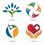 De emblemen van de gezondheid Stock Afbeelding