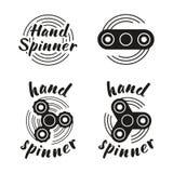 De emblemen van de handspinner Royalty-vrije Stock Fotografie