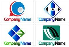 De emblemen van de inzameling Stock Foto