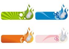 De Emblemen van de nachtclub stock illustratie