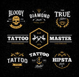 De Emblemen van de tatoegeringsstudio Stock Afbeeldingen