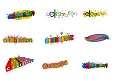 De emblemen van de viering stock illustratie
