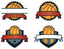 De Emblemen van het basketbal Stock Foto's