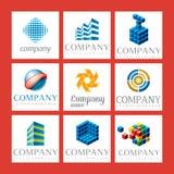 De emblemen van het bedrijf Stock Afbeelding