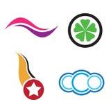 De emblemen van het bedrijf Stock Foto's